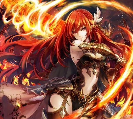 Fire Sword Other Wallpaper Id 2123453 Desktop Nexus Anime Anime Anime Warrior Anime Wallpaper