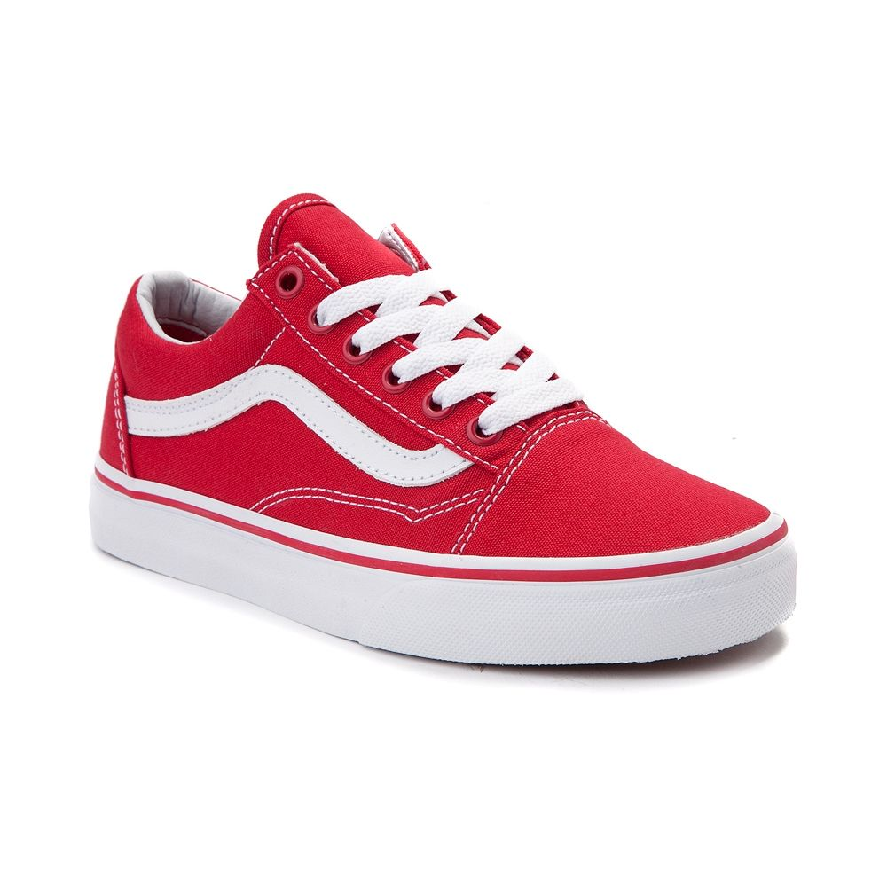 693ec1c231f Vans Old Skool Skate Shoe - Red White - 497174