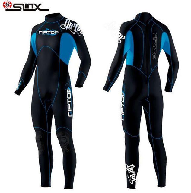Slinx 3mm de neopreno de manga larga de los hombres traje de neopreno de buceo  traje de neopreno de invierno equipo de buceo surf natación traje completo  ... 569dbaeb288