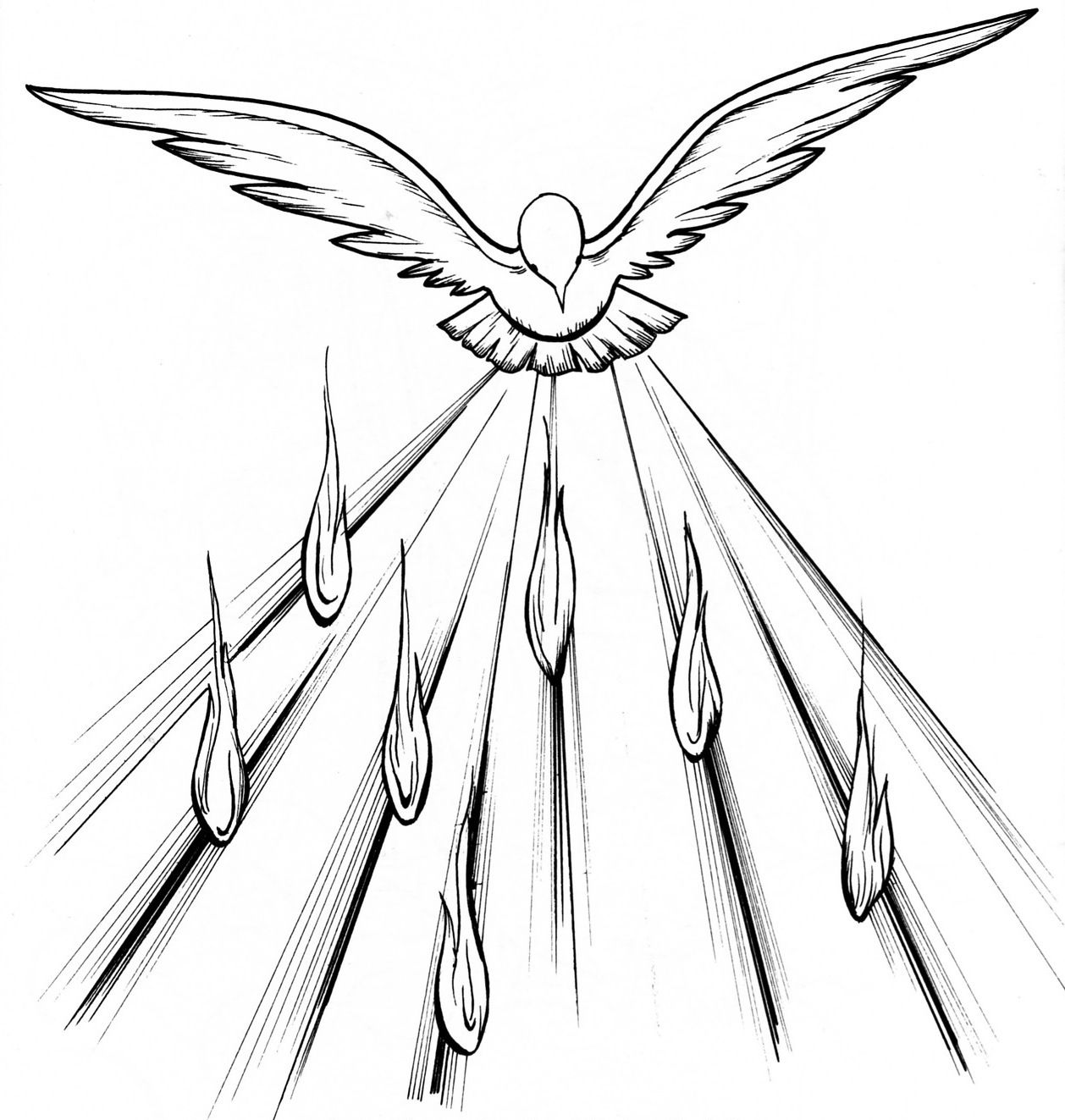 Holy Spirit Pentecost Coloring Pages Holy Spirit Art Holy Spirit Dove Spirit Drawing