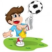 Futbol Caricatura Un Nino Pateando El Balon Moises Biblia Fotos De Futbol Imagenes De Futbol