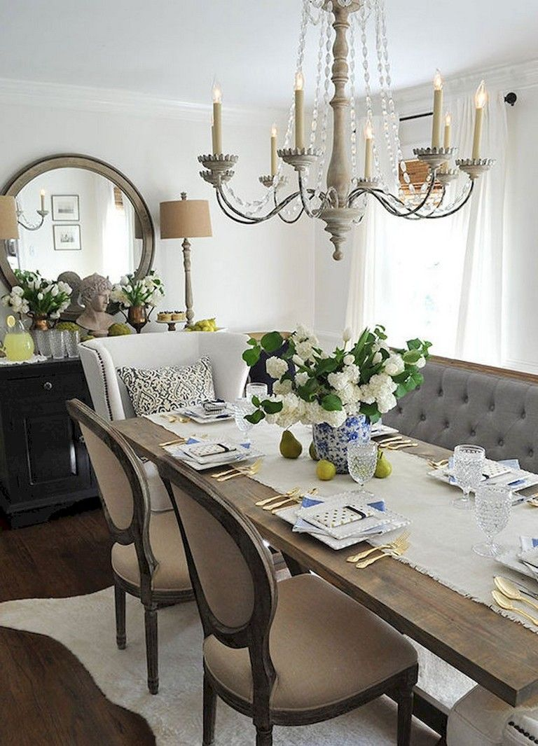 16+ Awesome Vintage French Country Dining Room Design Ideas