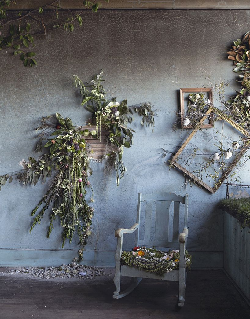 Lisa Waud Infills Abandoned Detroit House With Thousands Of Flowers Backdrops Dried Flowers Abandoned Houses