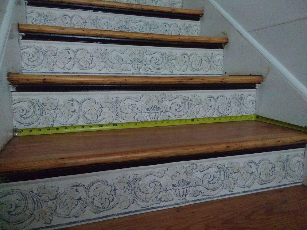 Stair Risers Wallpaper Border Wallpaper Border Stair Risers Stair Wall Decor