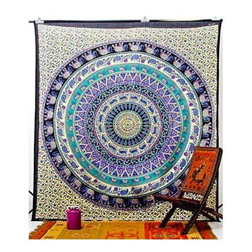 Indian Decor Mandala Yoga Zen Wall Meditation Batik Hippie Om Sign Tapestry  Hanging Dorm Bedroom Living