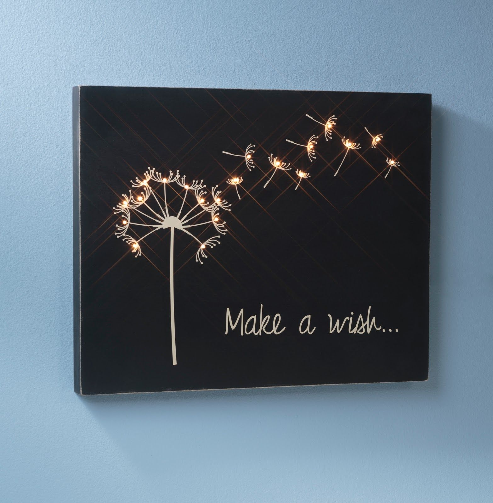 Make a wish wooden canvas created by sarah owens for craftwarehouse