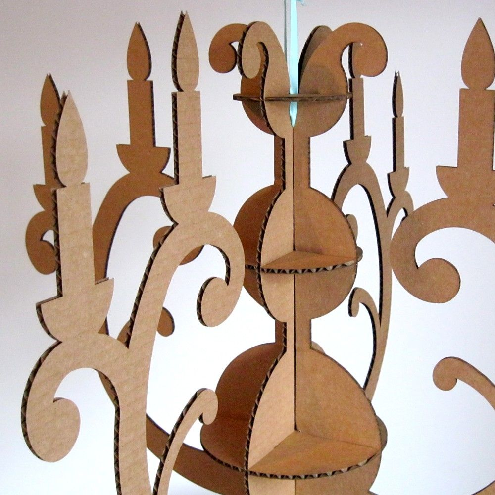 Eco Friendly Cardboard Chandelier - Modern Decor.