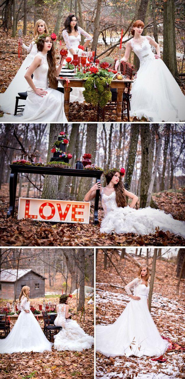 Snow White Themed Wedding Photo Shoot | Wedding paper divas, Wedding ...