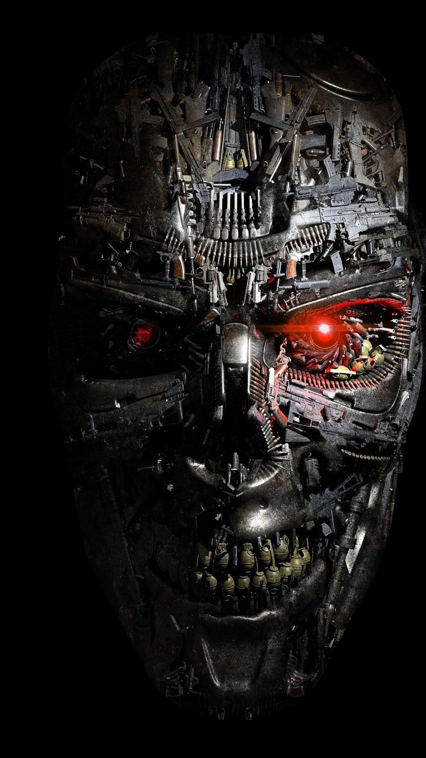 Terminator Wallpaper 8 Badass wallpaper iphone, Skull