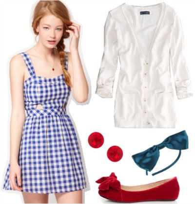 e6e005a9a48 Outfit inspired by Dorothy from The Wizard of Oz  Gingham sundress
