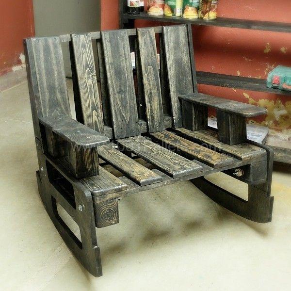 Sensational 2 Pallets Rocking Chair Pallet Pallet Chair Wooden Gamerscity Chair Design For Home Gamerscityorg