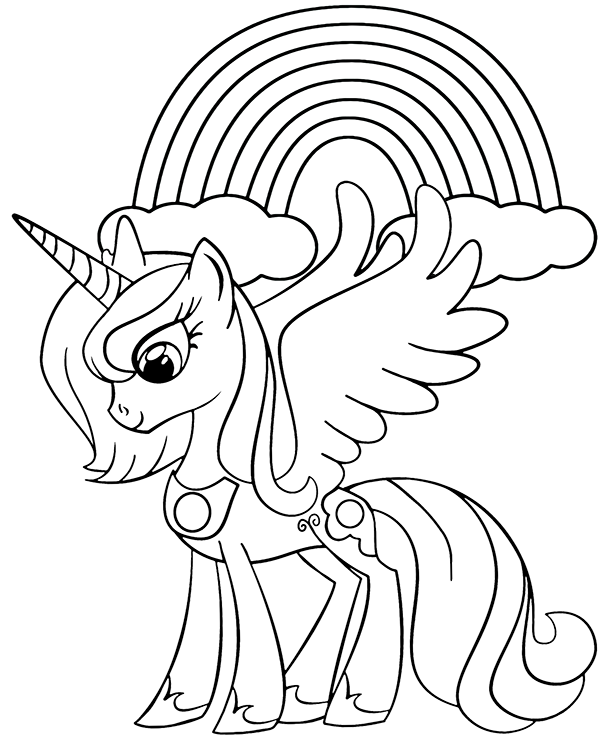An Unicorn And Rainbow On Coloring Page Unicorn Coloring Pages Abstract Coloring Pages Dog Coloring Page