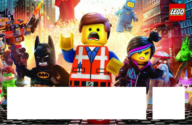 Download Now Free Printable Lego Movie Birthday Invitation