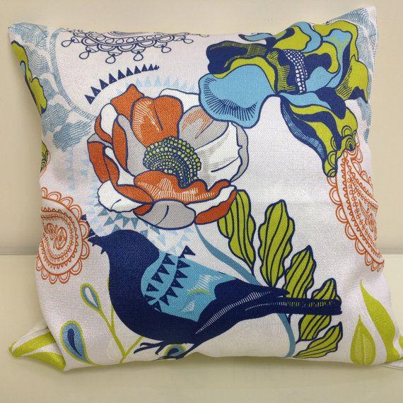 Floral throw pillows, Decorative pillows, Pillow covers, Decorative pillows for sofa, Floral Bird Pillow, Bird pillow, Sofa pillows