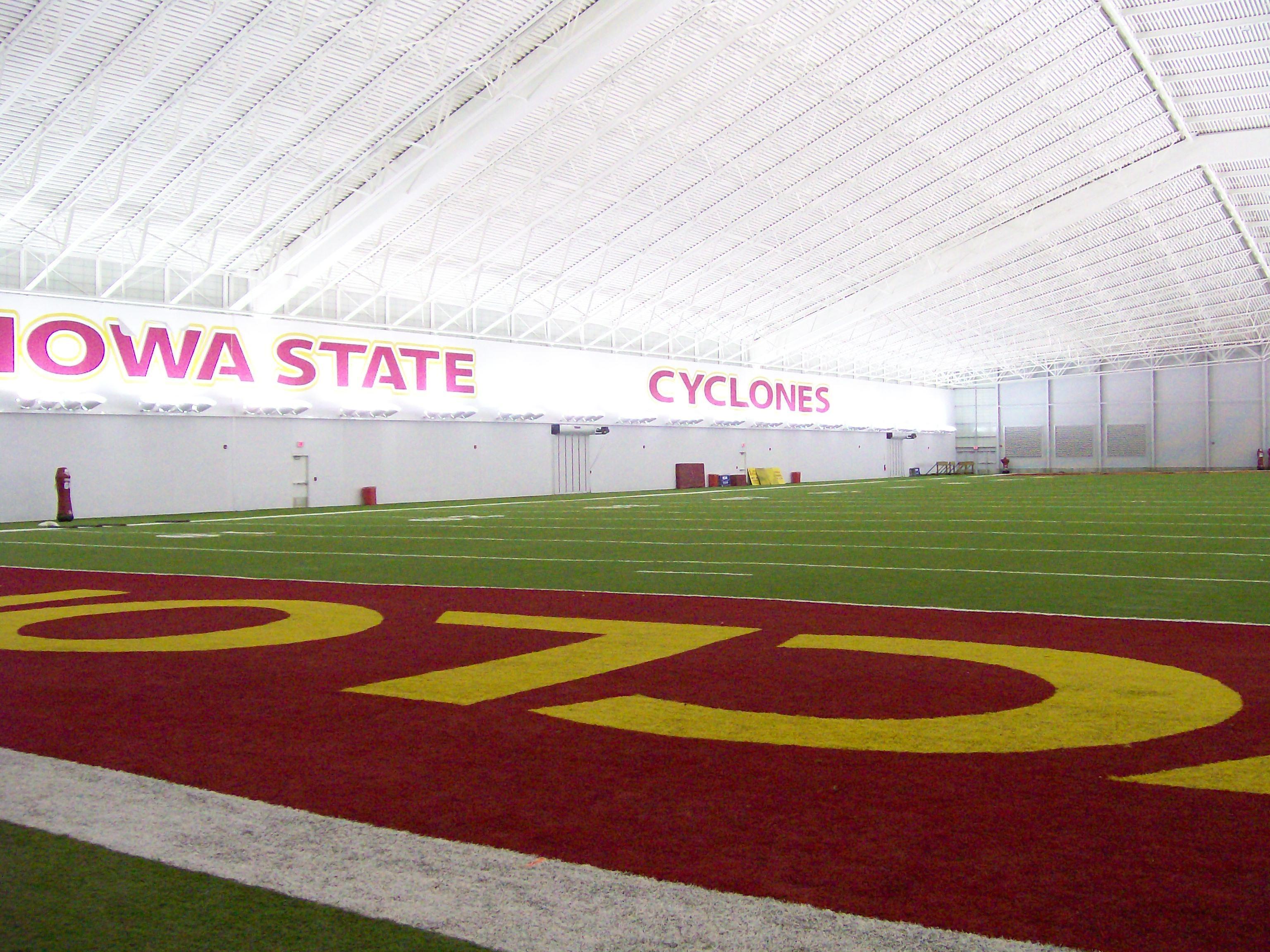 Iowa State Cyclones Footbal Team S Bergstrom Indoor Practice Facility Iowa State Cyclones Football Iowa State Football Iowa State