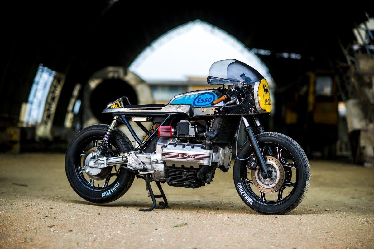 bmw k100 cafe racer | bmw, cafes and motorbikes