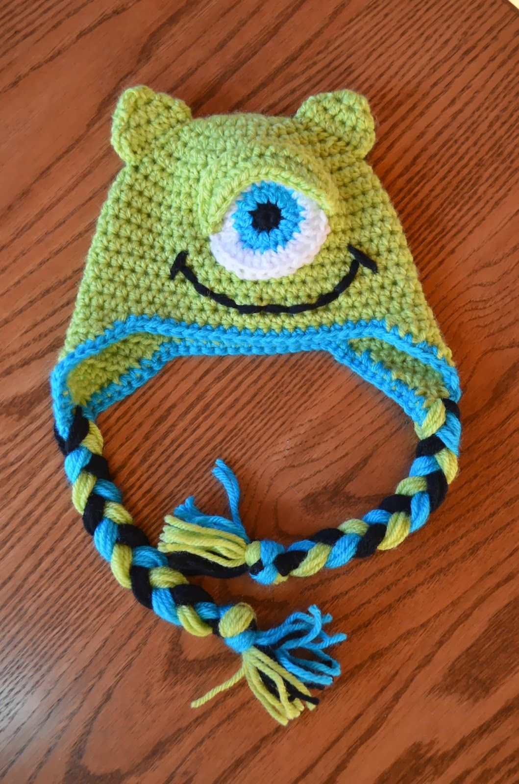 Hand Me Down Hobby: Make a Monster baby hat. I like this because it ...