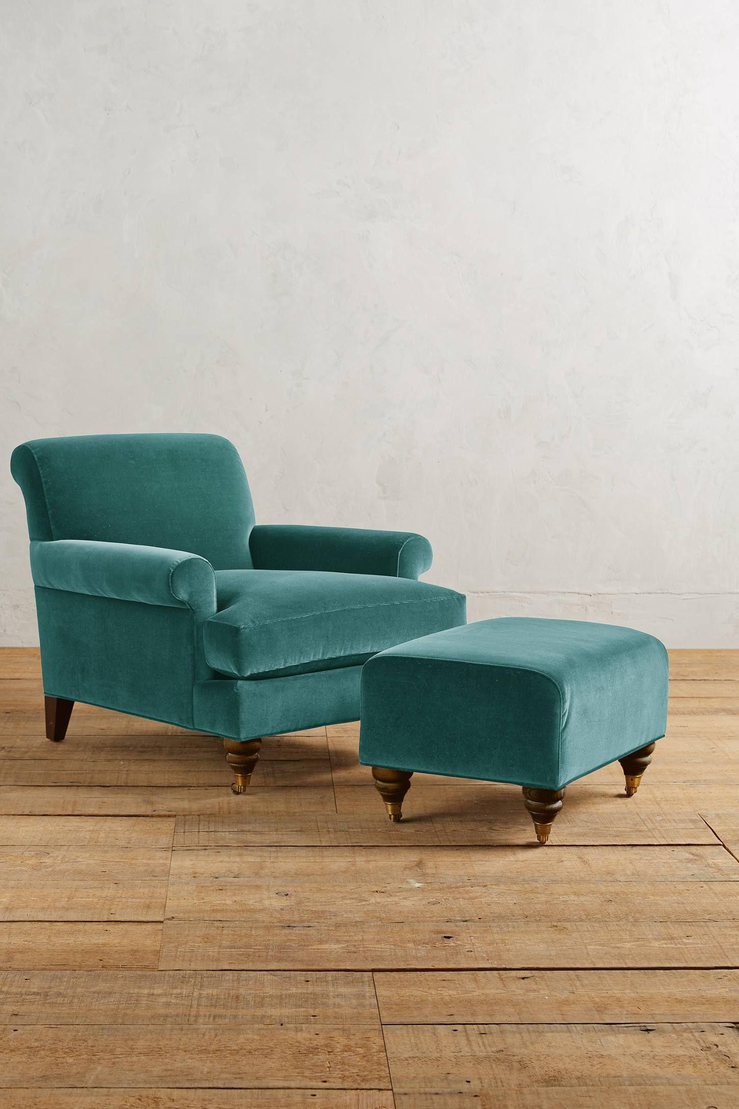 Velvet Willoughby Chair, Hickory Chair, Velvet chair