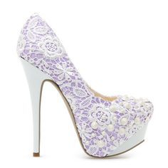 White And Purple Heels