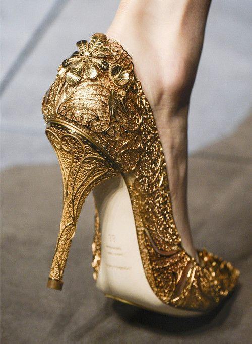 Shoes at Dolce & Gabbana Fall 2013