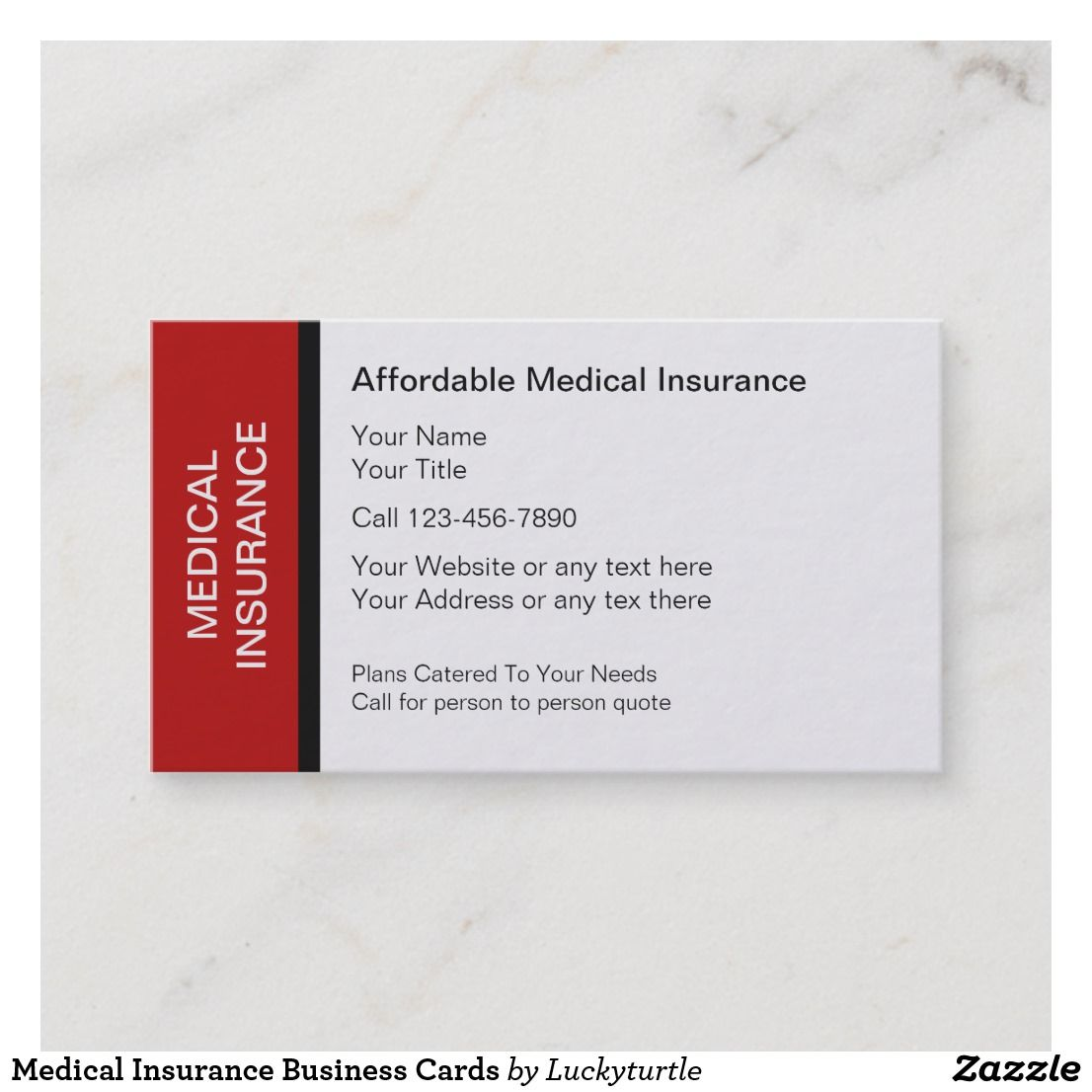 Medical Insurance Business Cards Zazzle Com