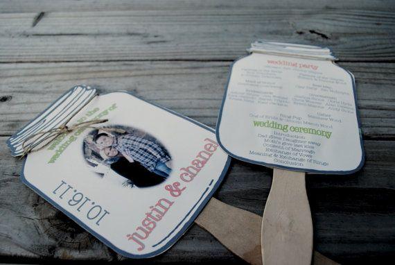 Proper Way To Stuff Wedding Invitations: LOVE THIS Mason Jar Paddle Fan Programs By Blueenvelope On