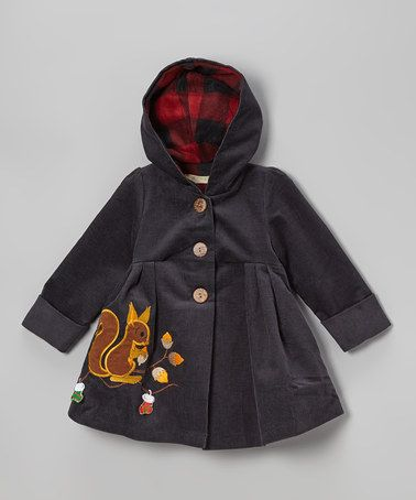 Navy Christmas Squirrel Corduroy Hooded Coat - Toddler & Girls by Maria Elena on #zulily #zulily #baby #babies #clothes #clothing #gift #shower #girl #girls #infant #toddler #dress #holiday #christmas #party #pageant #picture #portrait #family #card #cards #jacket #coat #winter #retro #woodland #critter #squirrel #hood #hoodie #hooded #corduroy #button #embroidered #embroidery #quilt #quilted #quilting #sew #sewing #idea #applique #navy #grey #gray #plaid #tartan