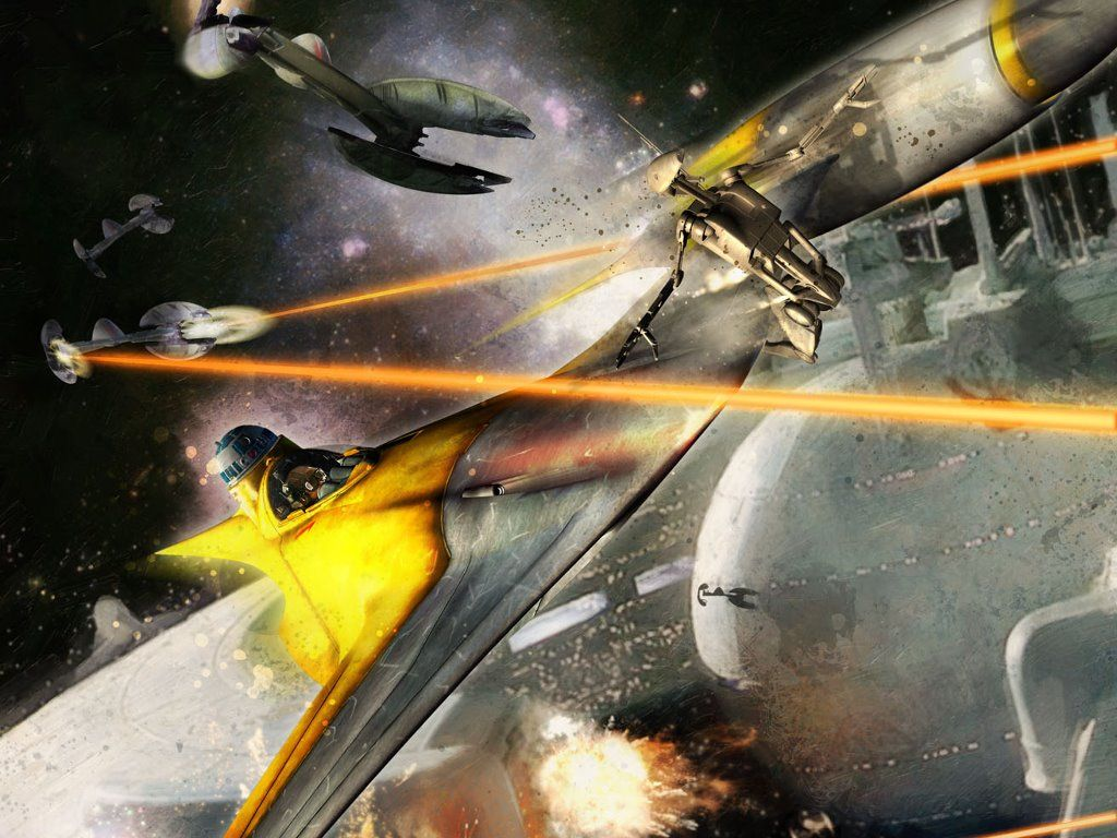 My Free Wallpapers Star Wars Wallpaper Battle Of Naboo Starfighter Star Wars Wallpaper Star Wars Art Starfighter