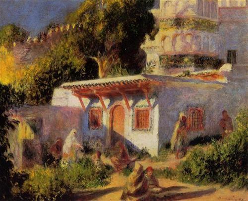 Mosque In Algiers Pierre Auguste Renoir Wikiart Org Pierre Auguste Renoir Renoir Paintings Renoir