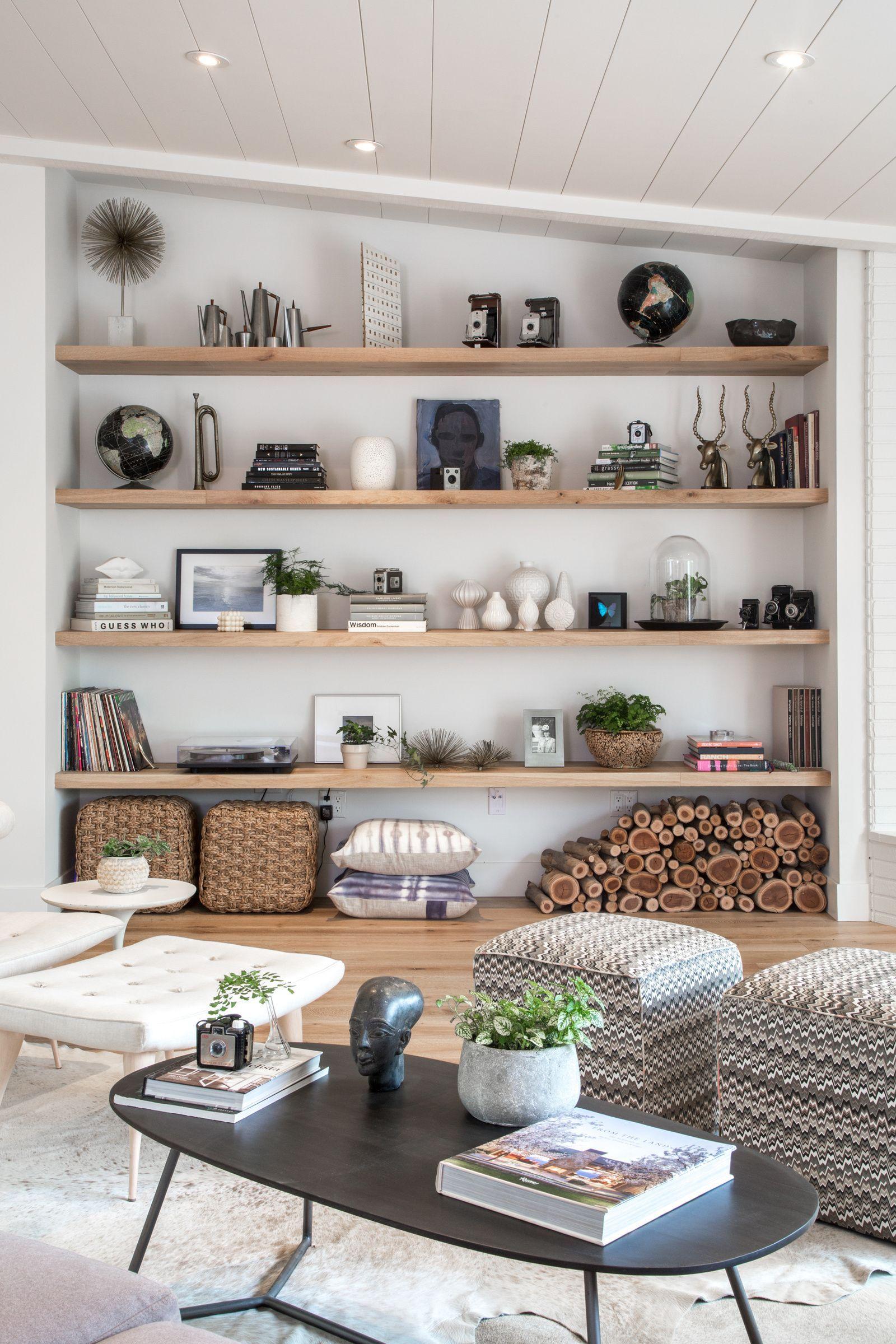 Remarkable Floating Shelves Dining Room At Living Room Open Shelf