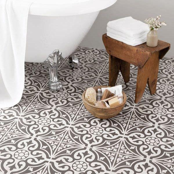9 Devonstone Grey Feature Floor Tiles 331x331mm Bct11064 Profile Large Image Victorian Bathroom Bathroom Styling Bathroom Floor Tiles