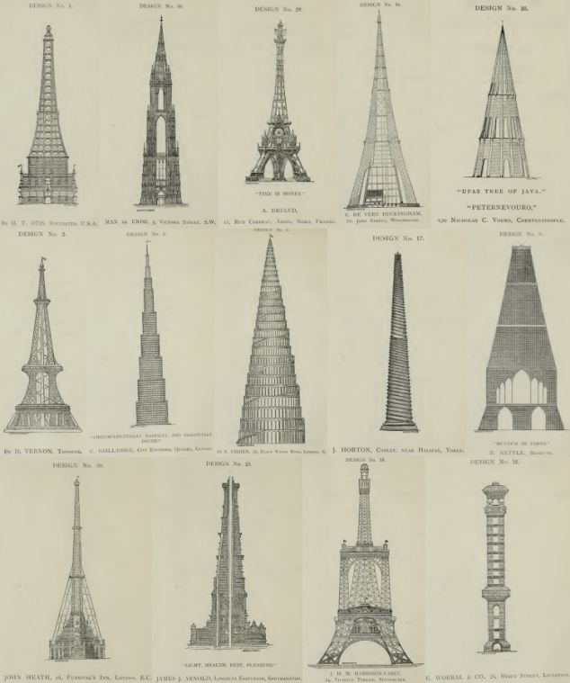 Historic drawings reveal some failed designs for famous landmarks - fresh architecture blueprint posters