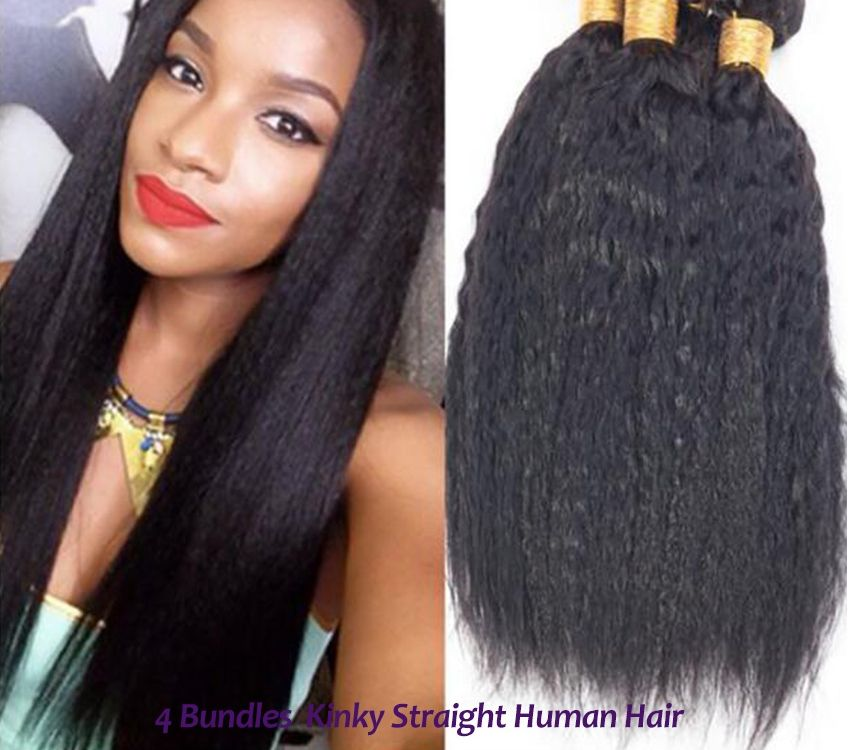 4 Bundles Unprocessed Italian Kinky Straight Hair Italian Virgin