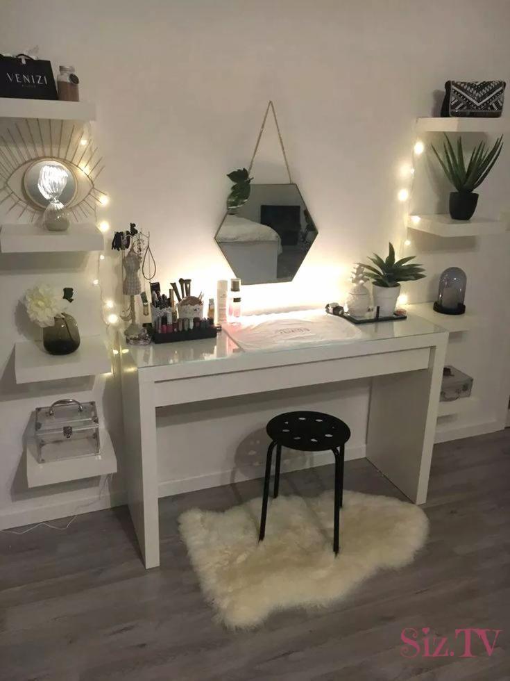 40 süße und mädchenhafte Schlafzimmer DekoIdeen für