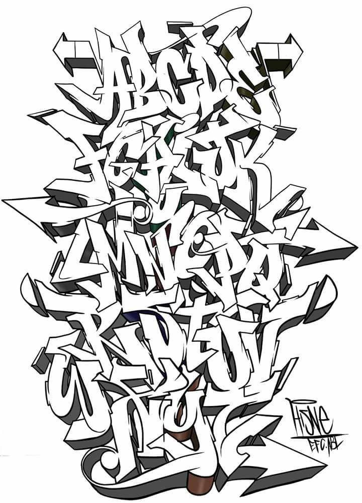 A B C D E F G H I J K L M N O P Q R S T U V W X Y Z - Enes Coşkun - #Coşkun #E...   - Graffiti art - #art #Coşkun #Enes #Graffiti #graffitiart