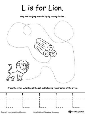 Letter L Coloring Pages Preschool : My a to z coloring book letter l coloring page pre k alphabet