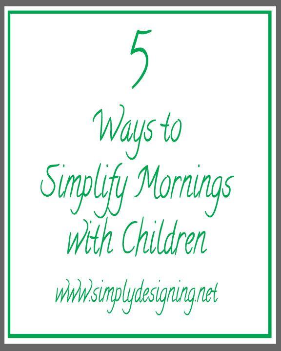 5 Ways to Simplify Your Mornings with Children | #screamfreemornings #schedule #fliptopfrenzyfree #sponsored