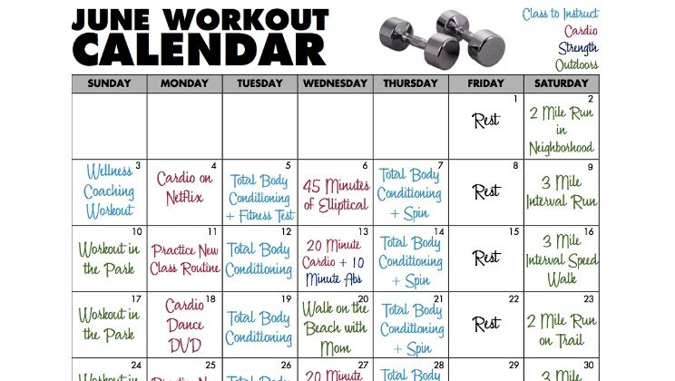 Workout Routines Calendar – Guiler Workout