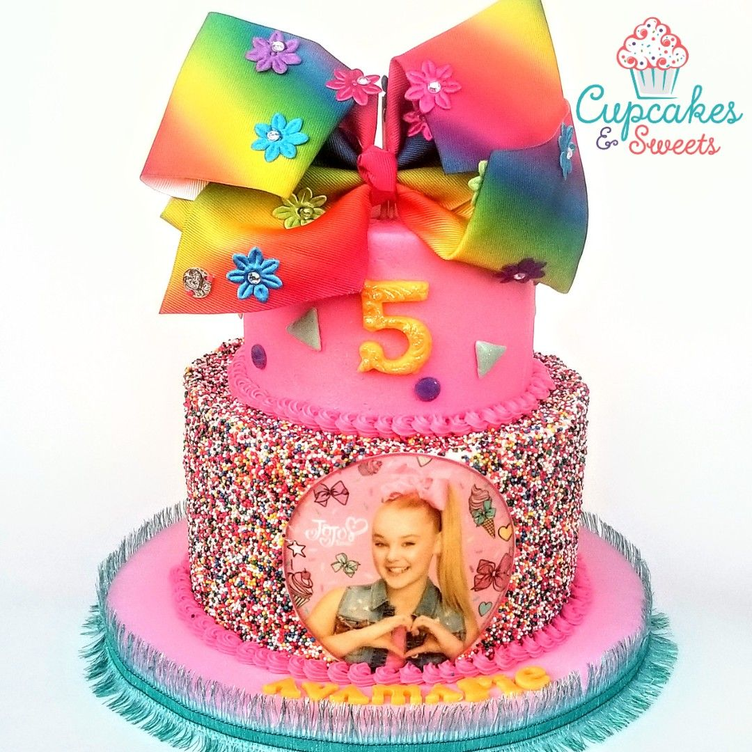 Two Tier Jojo Siwa Themed Birthday Cake Coloradosprings Jojo