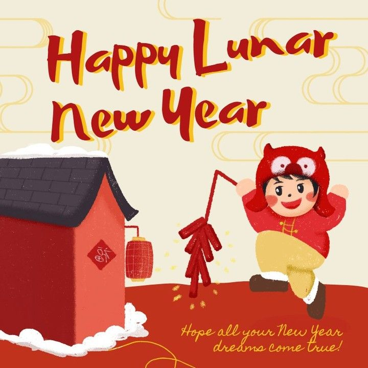 Happy Lunar New Year  Hope all your New Year dreams come true Follow stom