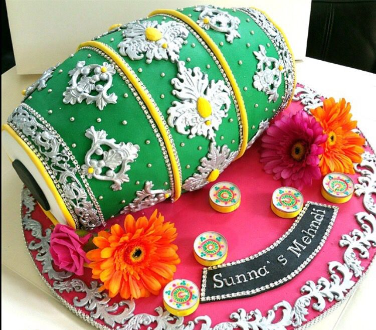 Cake For Mehndi Ceremony : Mehandi ceremony cake weddingcake beautifulcake