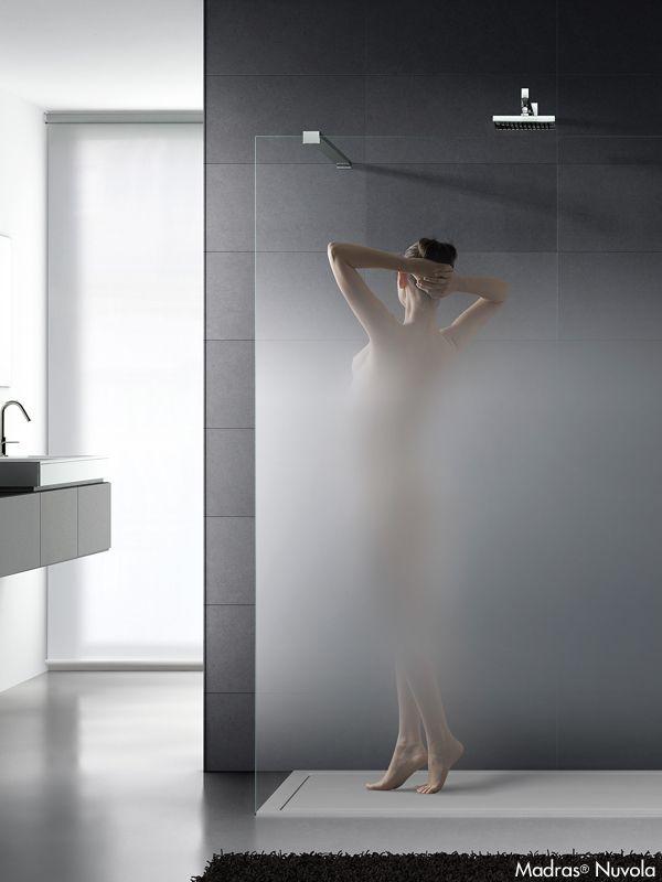 Parete doccia in cristallo sfumato MADRAS® NUVOLA - Vitrealspecchi ...