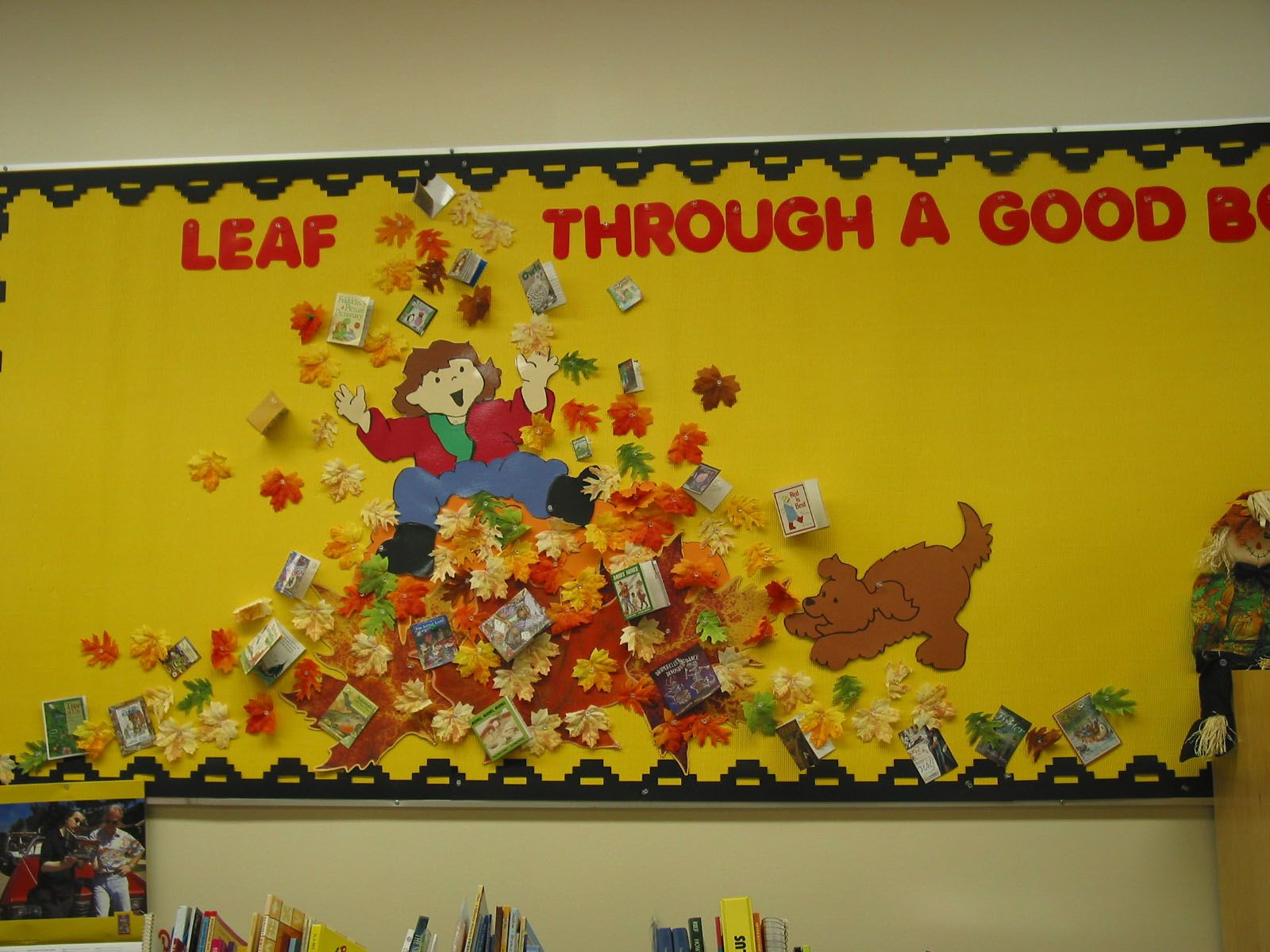 I like the slogan for this autumn bulletin board display that ...