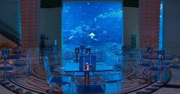مقهى بوسايدون في دبي صنف مقهى بوسايدون Poseidon من أفضل المقاهي التي تقدم أجمل تجربة طعام مع إطلالة رائعة في أفق إمارة دبي يتخذ هذا المقهى من أ Dubai Aquarium