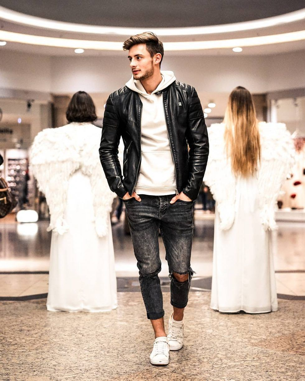 50 Best Fall Leather Jackets For Men 2018 Urban Men Outfits Fall Fashion Trends Men Mens Fashion Fall Hipster Mens Fashion [ 1224 x 980 Pixel ]
