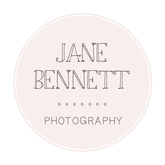Pink and Brown Vintage Circle Design Premade Business Logo Design For Photography and Small Business Use