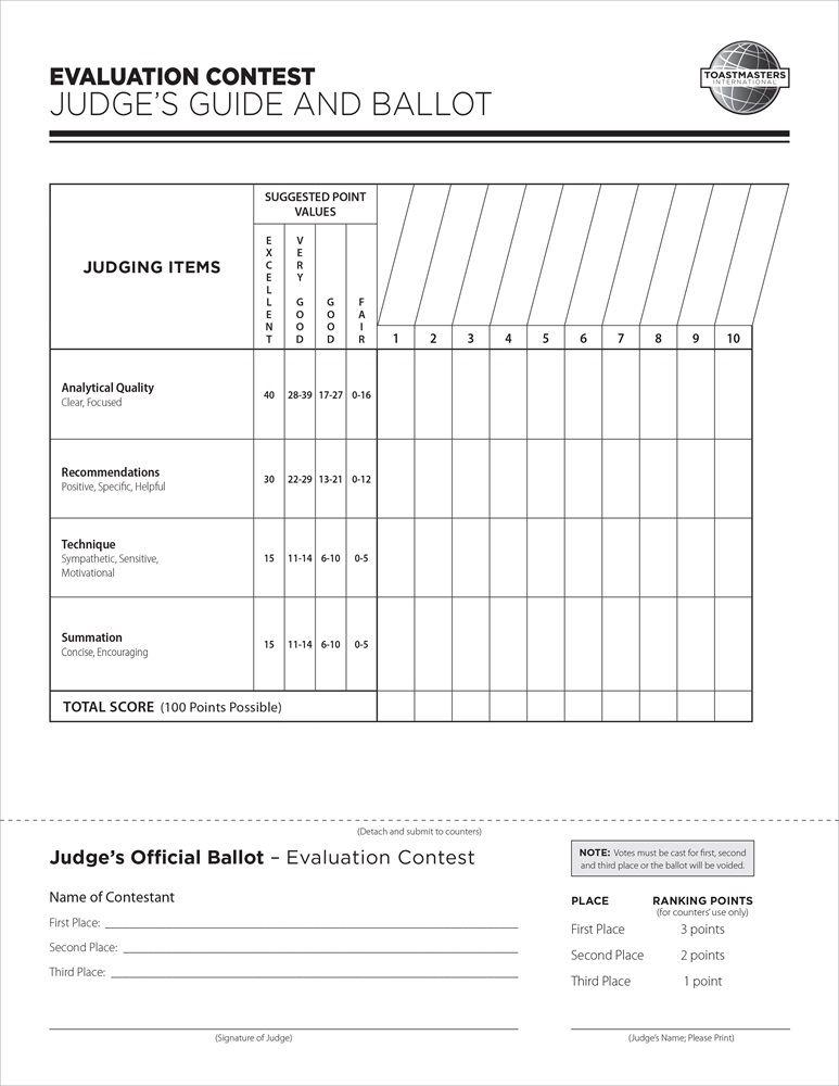 Elementary Speech Contest Judging Forms Speech Evaluation Elementary Speech Evaluation Form
