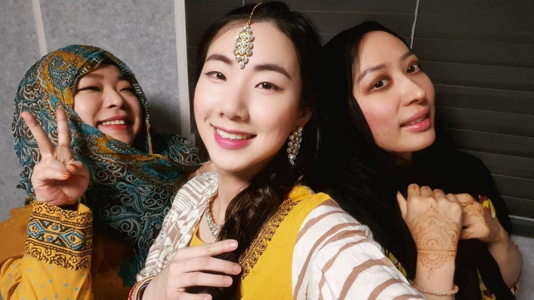[L-R] Ayperi, Yerin, Aini Korea in Pakistani Clothes | Korean Girls Love Pakistan