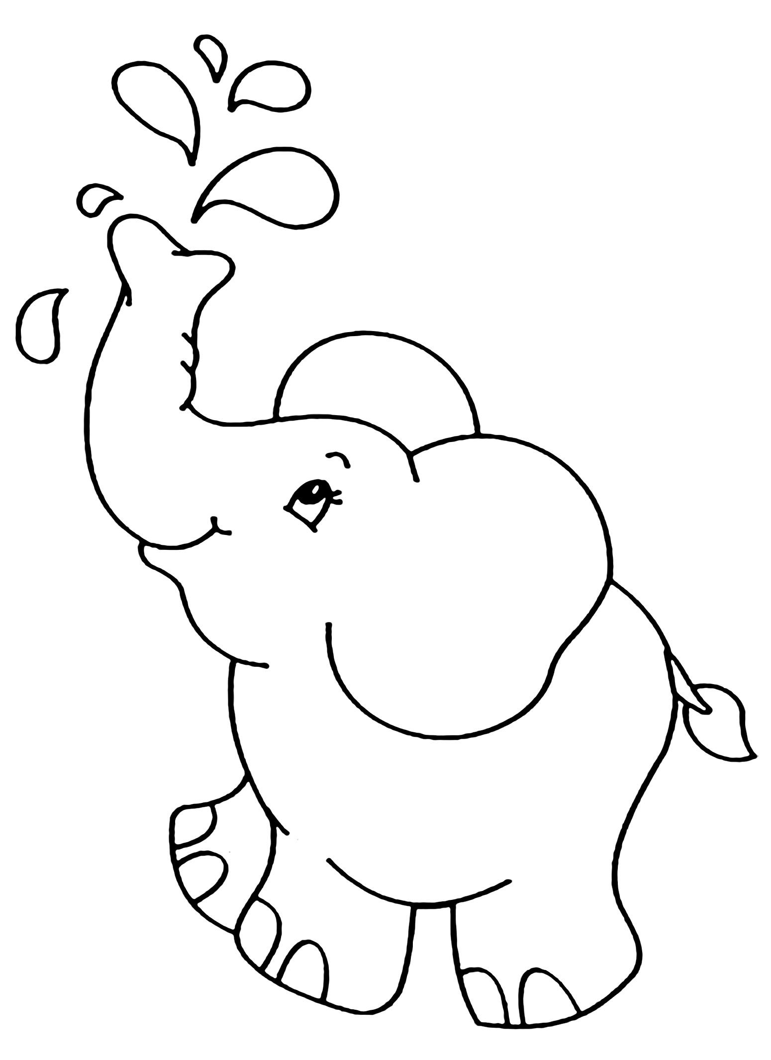 Simple Elephants Coloring Page To Download For Free From The Gallery Elephants Elephant Coloring Page Elephant Colouring Pictures Mandala Coloring Pages