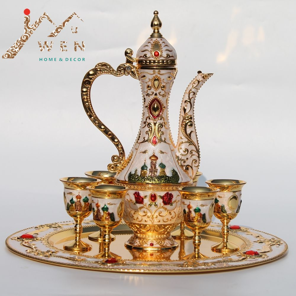 Russian style high-grade color tin metal wine with home decorations 1 setu003d 1 & Russian style high-grade color tin metal wine with home decorations ...
